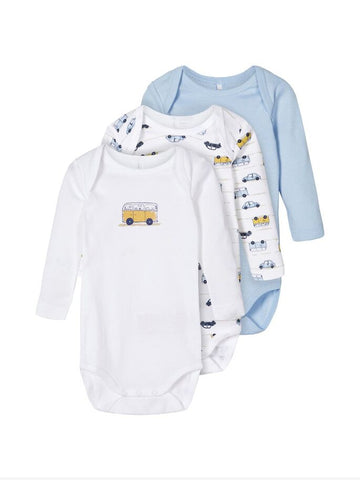 Name it Baby Boy 3-Pack Bodysuits / Vests