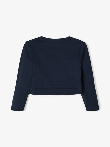 Name it Girls Navy & White Bolero with 3/4 Length Sleeves
