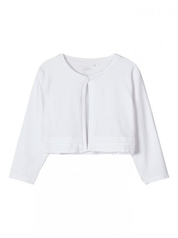 Name it Mini Girl White and Navy Bolero with 3/4 Length Sleeves