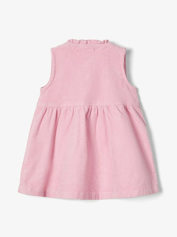 Name it Baby Girl Pink Corduroy Pinafore Dress
