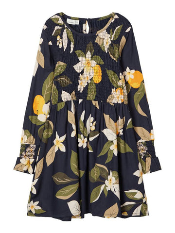 Name it Girls Pretty Floral Navy Dress
