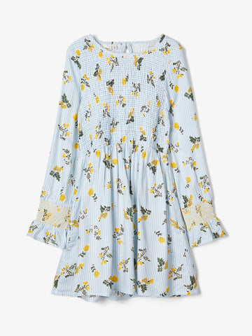 Name it Girls Pretty Floral Pale Blue Dress