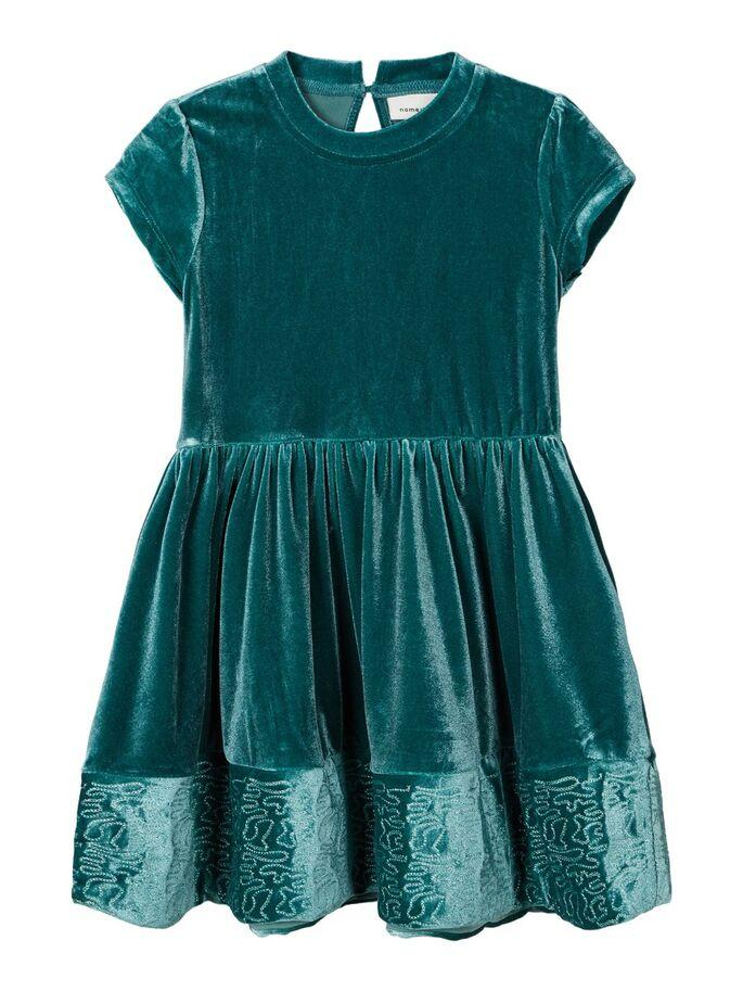 Name it Mini Girl Green Velvet Dress