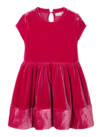 Name it Mini Girl Red Velvet Dress