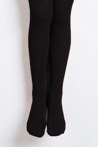 Name it Girls Solid Black Tights