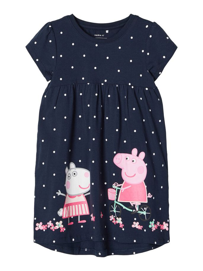 Name it Mini Girl Peppa Pig Short Sleeved Cotton Dress
