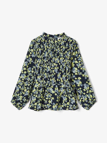 Name it Girls Long Sleeved Floral Print Blouse