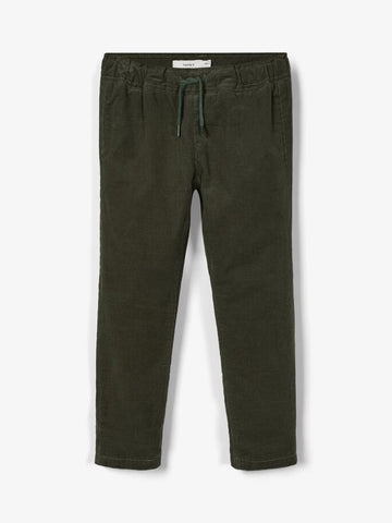 Name it Mini Boy Green Corduroy Pants with Cotton Lining