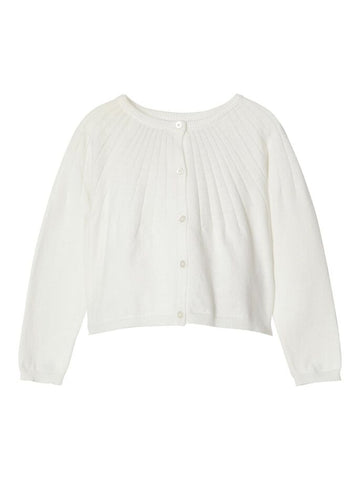 Name it Mini Girl White Short Knitted Cardigan