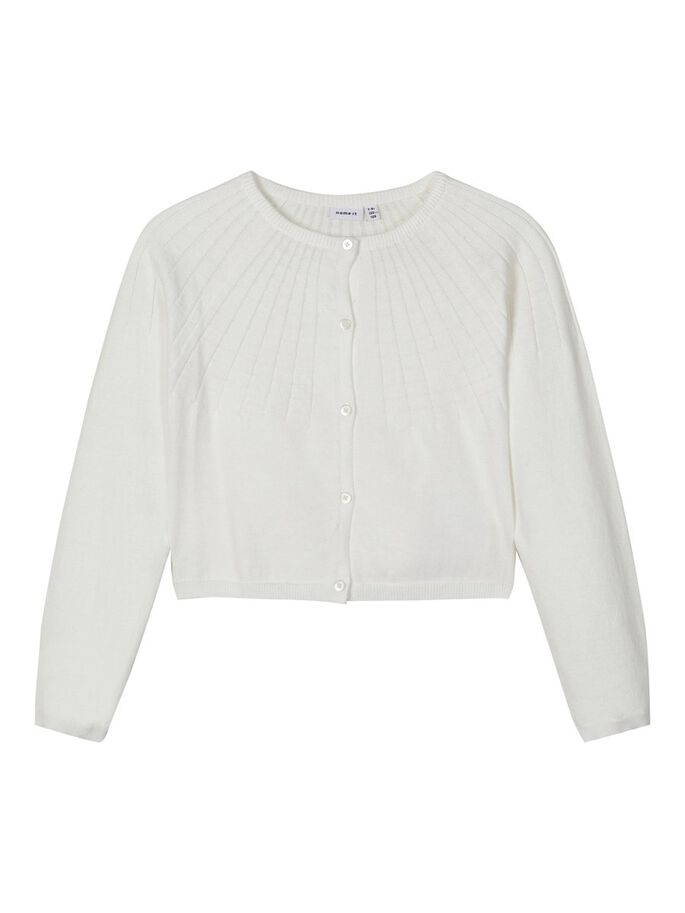 Name it Girls Short White Knitted Cardigan