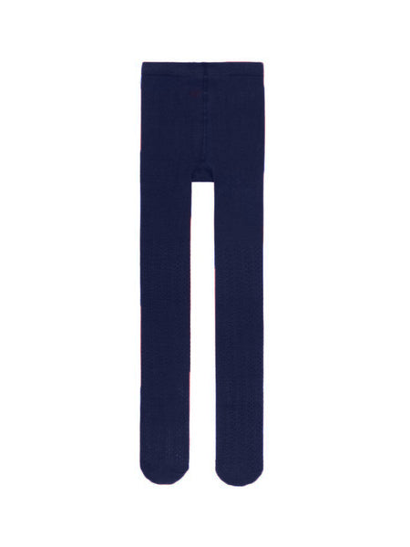 Name it Girls Solid Navy Knit Tights