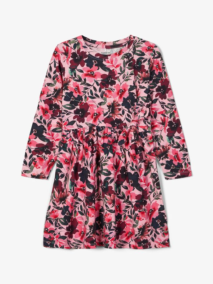 Name it Mini Girl Stretch Jersey Floral Dress