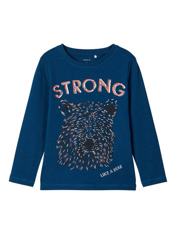 Name it Toddler Boys Long Sleeve Bear Print Top