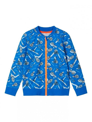 Name it Toddler Boy Zip-Up Sweat Cardigan Scooter Print