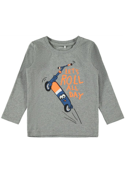 Name it Mini Boys Long Sleeve Scooter Top