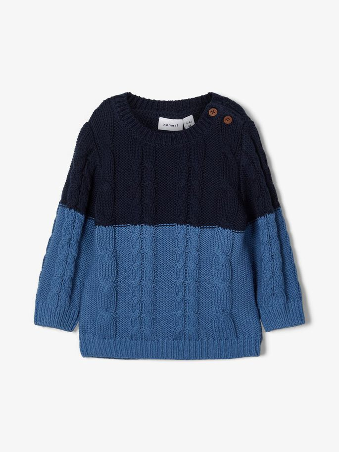 Name it Baby Boy Blue Cable Knit Jumper