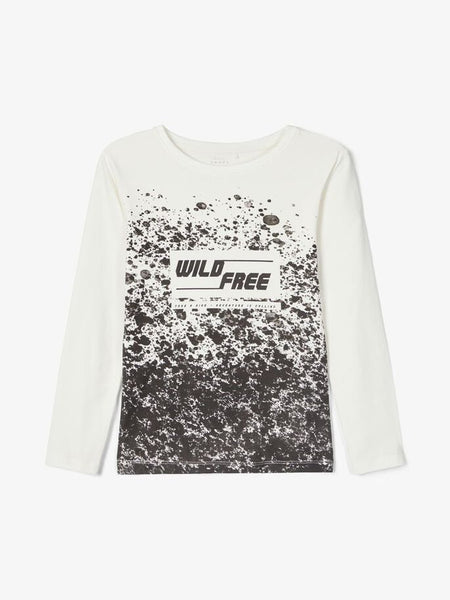 Name it Boys Long Sleeved Graphic Printed T-Shirt