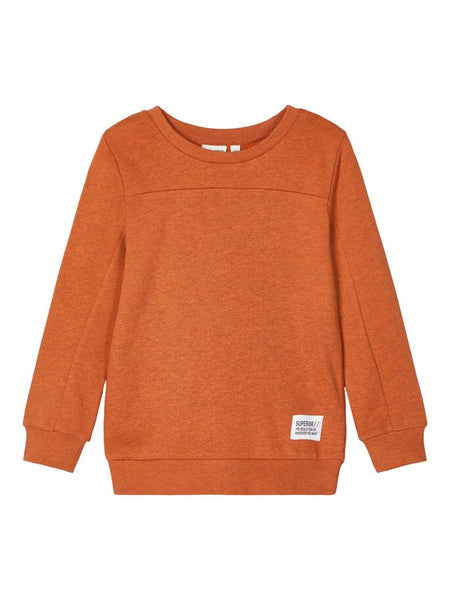 Name it Mini Boy Crew Neck Sweatshirt Brick Colour