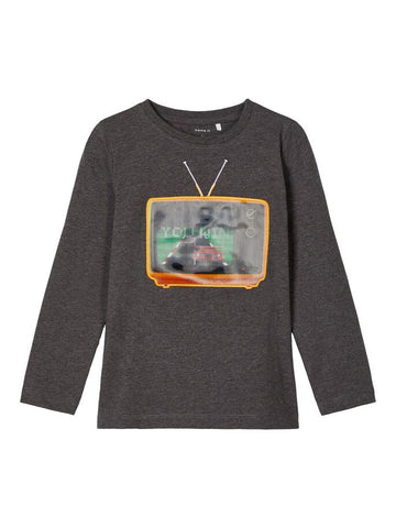 Name it Toddler Boy Crew Neck Long Sleeved Grey Top