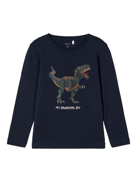 Name it Toddler Boy Crew Neck T-REX Dinosaur Top