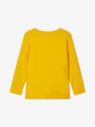 Name it Toddler Boy Crew Neck Long Sleeved Top Yellow