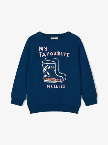 Name it Girls Sweatshirt with 3-D Detail