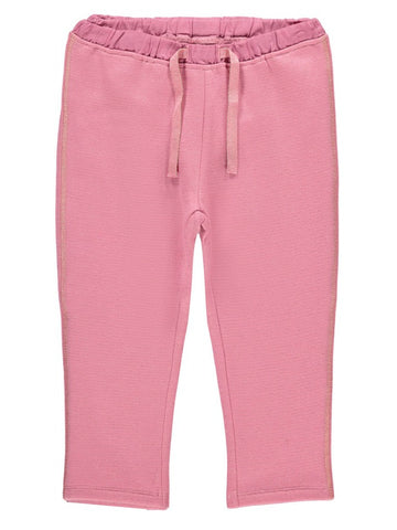 Name it Mini Girl Pink Sweat Pants with Adjustable Waist
