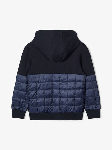 Name it Boys Quilted Zipped Hoodie