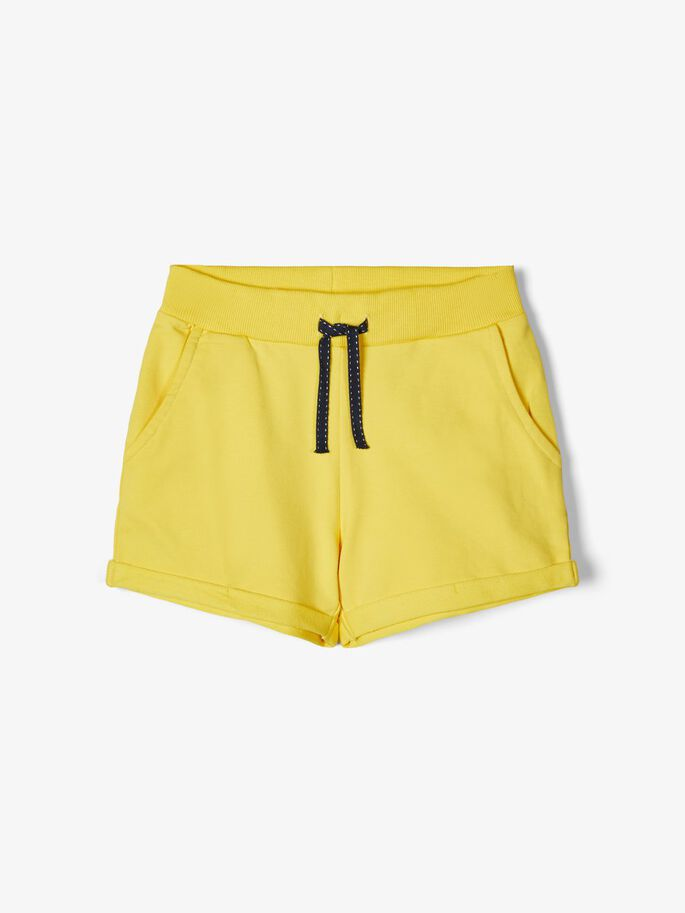 Name it Girls Yellow Sweat Short with Pockets