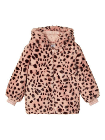 Name it Mini Girl Faux Fur Hooded Jacket