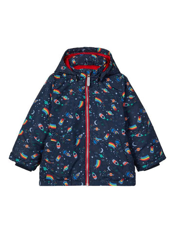 Name it Mini Boy Padded Winter Jacket Space Rockets