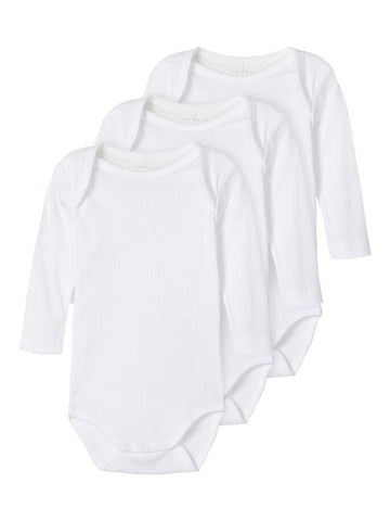 Name it Baby 3-Pack White Bodysuit / Vests