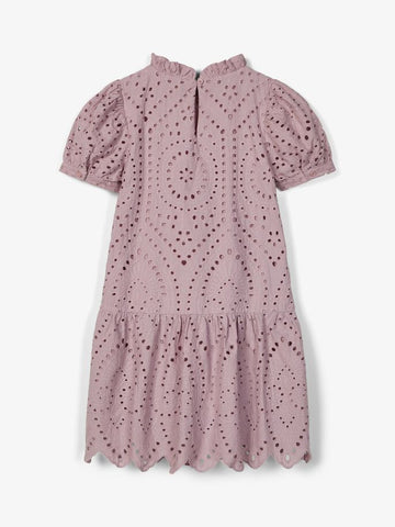 Name it Girls Broderie Anglaise Cotton Dress
