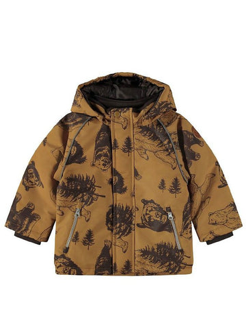 Name it Mini Boy Waterproof Winter Jacket Bear Print