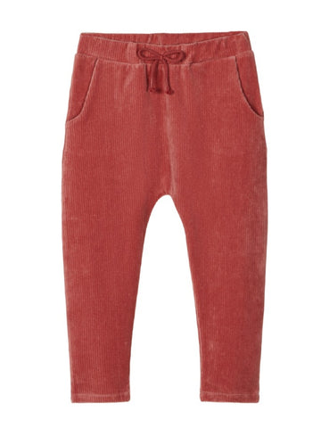Name it Mini Girl Stretchy Ribbed Velour Pants