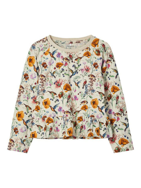 Name it Girls Floral Print long Sleeved Top