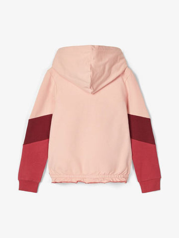 Name it Girls Colour Block Zip-Up Hoodie Sweatshirt
