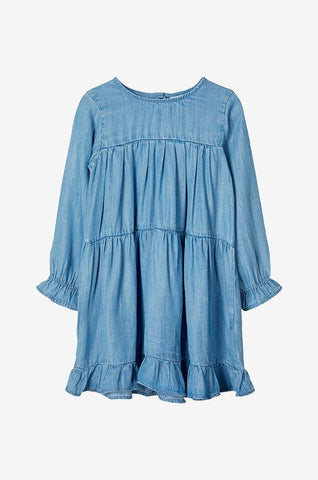 Name it Mini Girl Lightweight Denim Look Dress