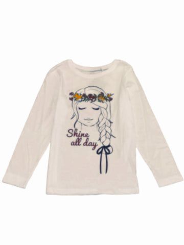 Name it Girls Printed Long Sleeved Cotton Top