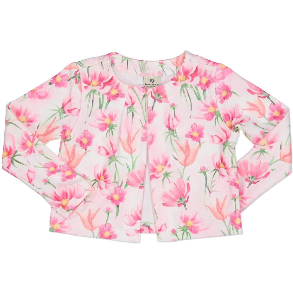 Try Beyond Girls Floral Pink Jacket