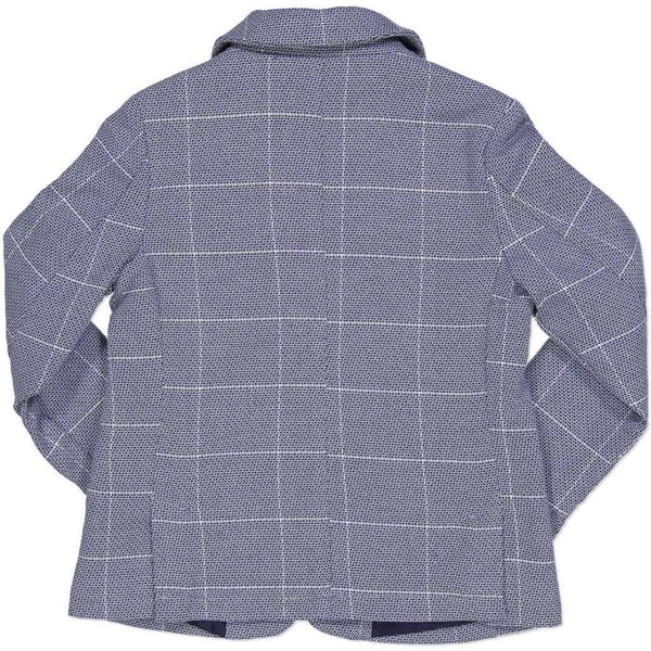 Boys Light Blue Check Formal Jacket