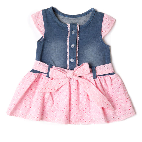 Baby Girl Denim and Pink Dress