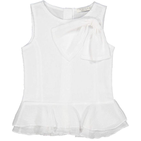 Try Beyond Girls White Sleeveless Blouse