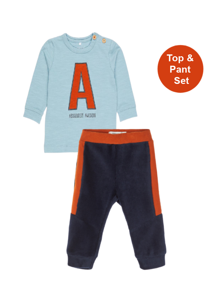 Name it Baby Boy Absolutely Awesome Top and Pant Set