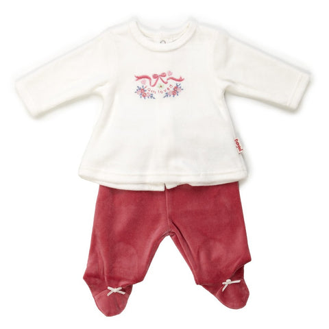 Babybol Baby Girl Velour 2-Piece Set Rose