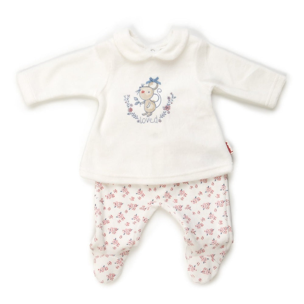 Babybol 2-Piece Cream Velour Set