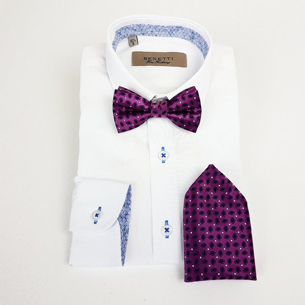 Purple Bow Tie and Pocket Square
