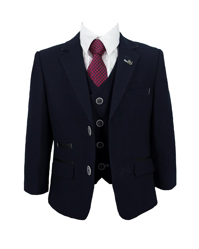 Cavani Radley Dark Navy Boys Suit FRONT