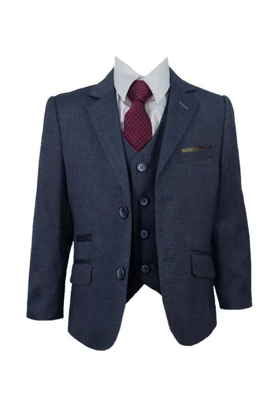 Cavani Steele Blue Boys Suit