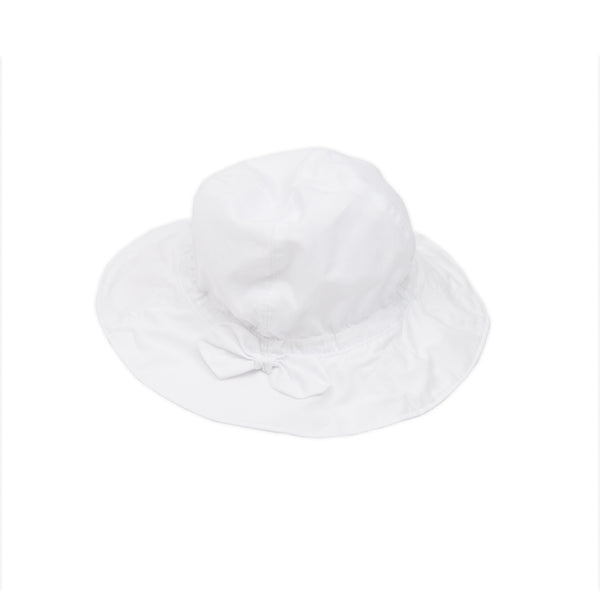 Babybol Mini Girl Hat with Bow in WHITE